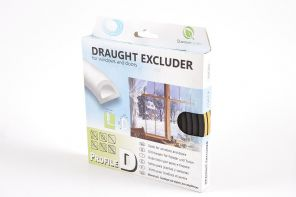 10m D-profile Black Colour Draught Excluder
